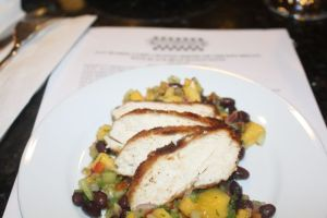 Pan Seared Cumin Crusted Chicken Breast with Black Bean Mango Salsa