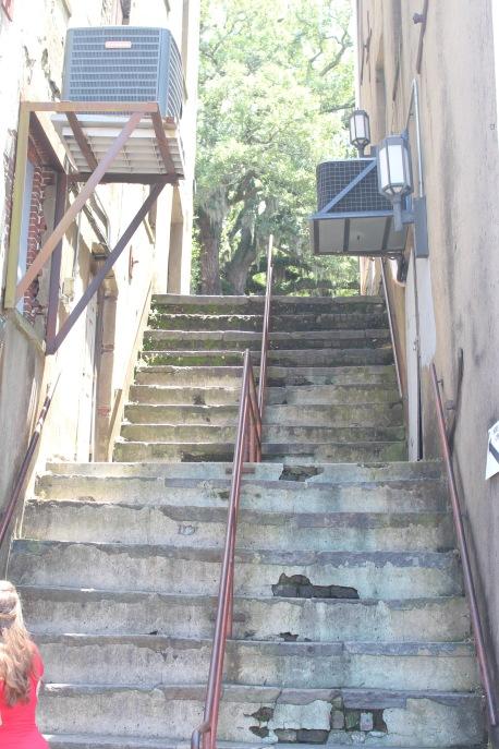 Steep Stairs Everywhere. These lead from River Street up to the level of Bay Street