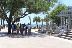 Walkway to Coligny Beach