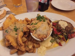 A Taste of Stinky's (Catfish Meuniere, Crawfish Pie, Crab Cake)